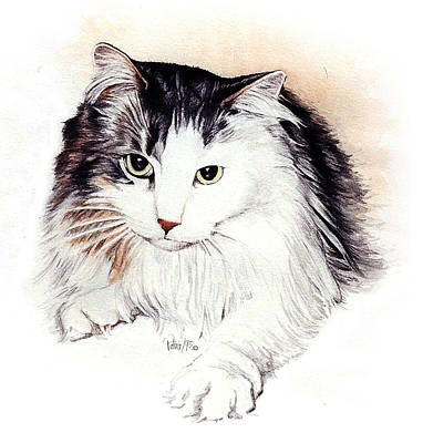 Painting - Long Haired Kitty by Patrice Clarkson