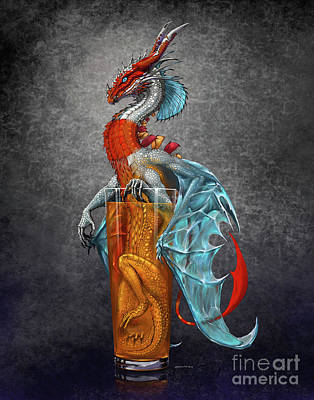 Digital Art - Long Island Ice Tea Dragon by Stanley Morrison