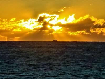 Photograph - Long Island Sound Sunrise by Rob Hans