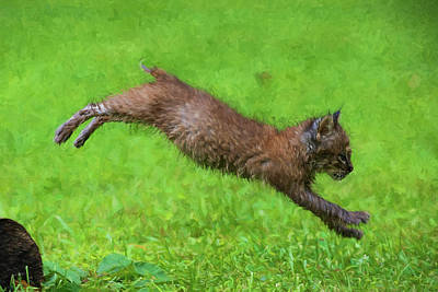 Photograph - Long Jump Paintography by Dan Friend