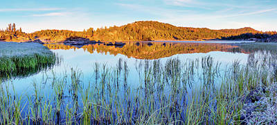 Photograph - Long Lake Calm by Leland D Howard