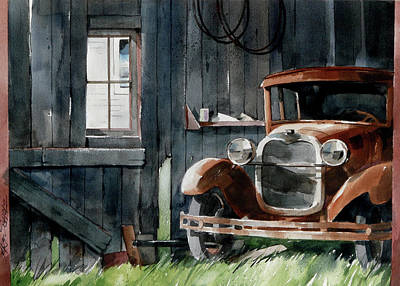 Painting - Long Term Parking by Art Scholz