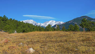 Photograph - Longs Peak From Upper Beaver Meadows by Tom Potter