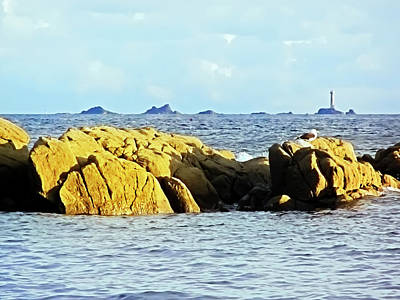 Photograph - Longships And Wolf Rock Lighthouses From Cape Cornwall by Terri Waters