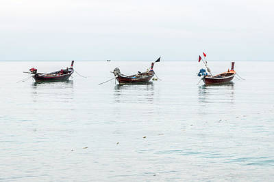 Photograph - Longtail Boats At Rest by Ian Robert Knight