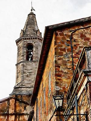Photograph - Look Up To The Bell Tower Pienza by Dorothy Berry-Lound