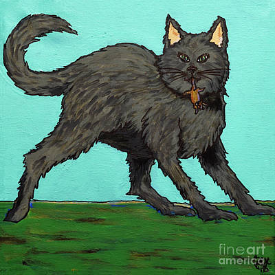 Painting - Look What The Cat Dragged In by Rebecca Weeks Howard