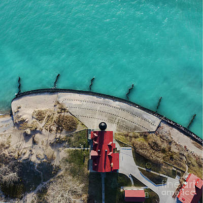 Royalty-Free and Rights-Managed Images - Looking Down on Point Betsie by Twenty Two North Photography
