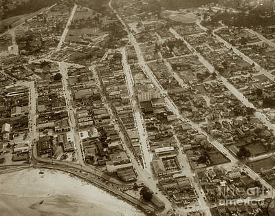 Photograph - Looking Down On The Intersection Of Alvarado And Calle Principal St.s, Monterey  by California Views Archives Mr Pat Hathaway Archives