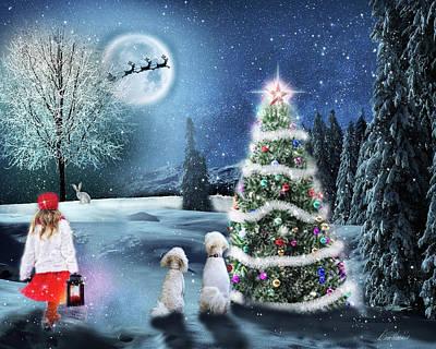 Digital Art - Looking For Santa by Diana Haronis