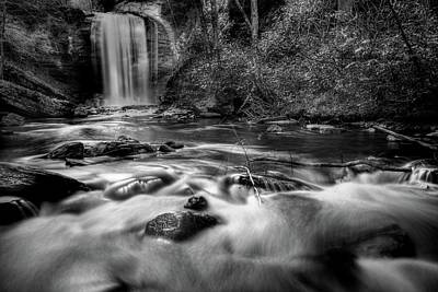 Photograph - Looking Glass Falls In Black And White by Carol Montoya