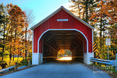 Photograph - Looking Into The Cresson Covered Bridge by Adam Jewell