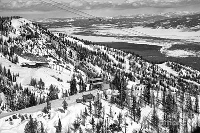 Photograph - Looking Out Over The Gondola Summit Black And White by Adam Jewell