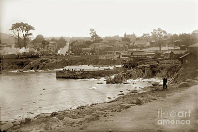 Photograph - Looking Over The Pier At Lovers Point Beach Up Forest Avenue Wit by California Views Archives Mr Pat Hathaway Archives