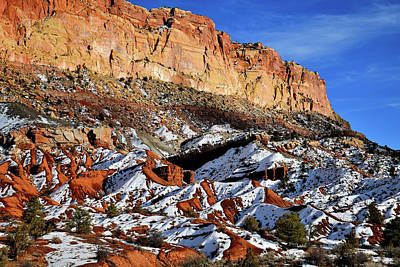 Photograph - Looking South From Scenic Drive In Capitol Reef Np by Ray Mathis
