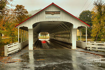 Photograph - Looking Through The Ashuelot Covered Bridge by Adam Jewell