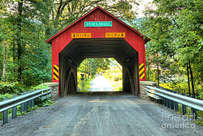 Photograph - Looking Through The Books Covered Bridge by Adam Jewell