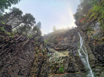 Photograph - Looking Up At Copper Falls  by Leland D Howard