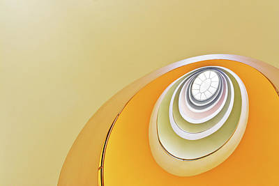 Photograph - Looking Up At Spiral Staircase by Cinoby