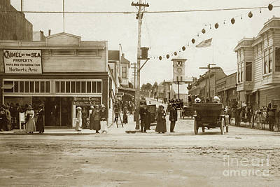 Photograph - Looking Up Forest Ave. From Lighthouse Ave. Circa 1913   by California Views Archives Mr Pat Hathaway Archives