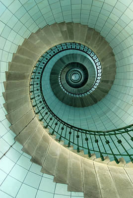 Photograph - Looking Up The Spiral Staircase Of The by Ian Cumming