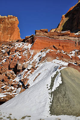 Photograph - Looking Up To Cohab Canyon In Capitol Reef by Ray Mathis
