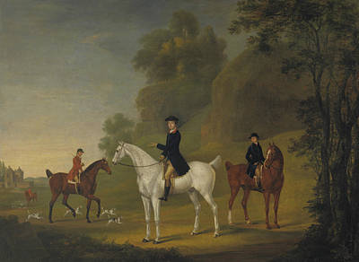Painting - Lord Bulkeley And His Harriers, His Huntsman John Wells And Whipper-in R. Jennings by Thomas Stringer