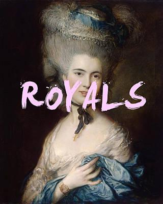 Digital Art - Lorde Royals Print by Georgia Fowler