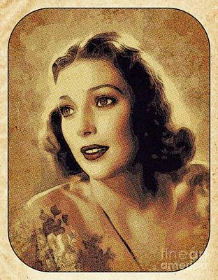Digital Art Rights Managed Images - Loretta Young, Vintage Movie Star Royalty-Free Image by Esoterica Art Agency
