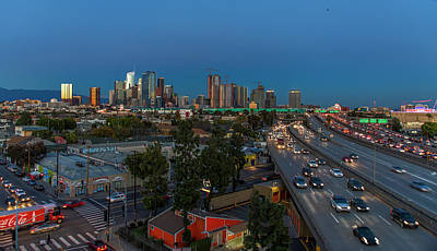 Photograph - Los Angeles At Dusk by Gene Parks