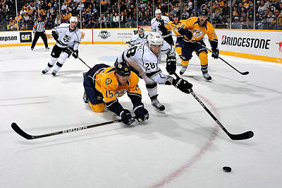 Los Angeles Kings Photograph - Los Angeles Kings V Nashville Predators by Frederick Breedon