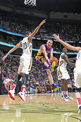 Photograph - Los Angeles Lakers V New Orleans by Layne Murdoch Jr.