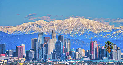 Photograph - Los Angeles Sitting Under Snow by Lynn Bauer