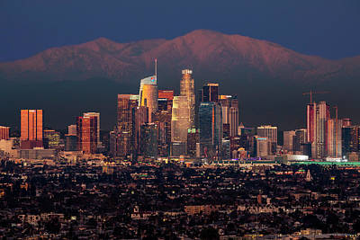 Photograph - Los Angeles Skyline At Dusk by Kelley King