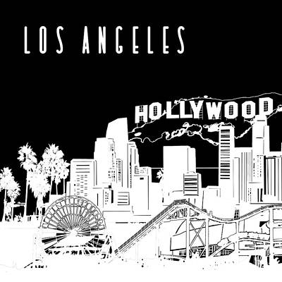 Digital Art - Los Angeles Skyline Panorama 2 by Bekim Art