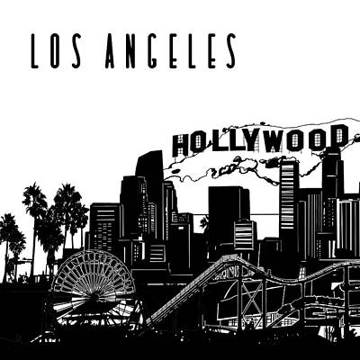 Digital Art - Los Angeles Skyline Panorama by Bekim Art