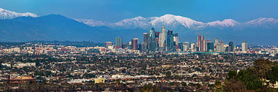 Photograph - Los Angeles Snow Capped Mountains by Kelley King