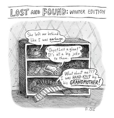 Drawing - Lost And Found by Roz Chast