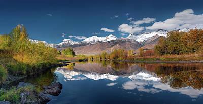 Photograph - Lost River Range Reflection by Leland D Howard