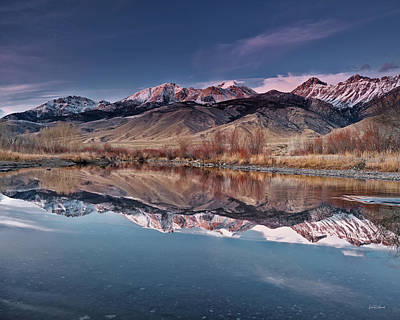 Photograph - Lost River Range Winter Reflection by Leland D Howard
