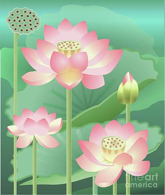 Wall Art - Digital Art - Lotus by Arlene Kelley