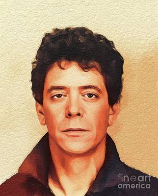 Music Paintings - Lou Reed, Music Legend by Esoterica Art Agency