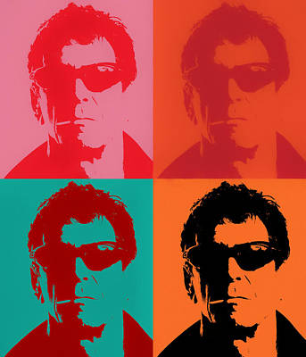 Painting - Lou Reed Pop Art by Dan Sproul