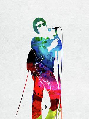 Rock Band Wall Art - Digital Art - Lou Reed Watercolor by Naxart Studio