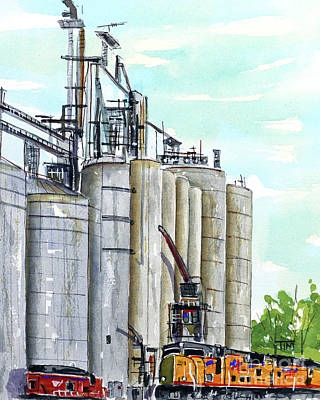 Painting - Load Out Of Lexington by Tim Ross