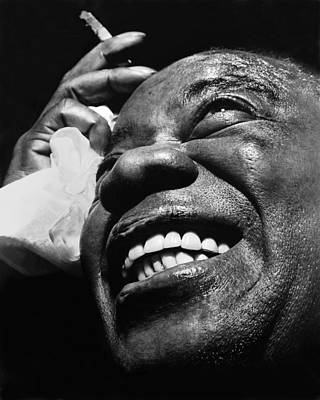 Photograph - Louis Armstrong 1962 by Keystone-france