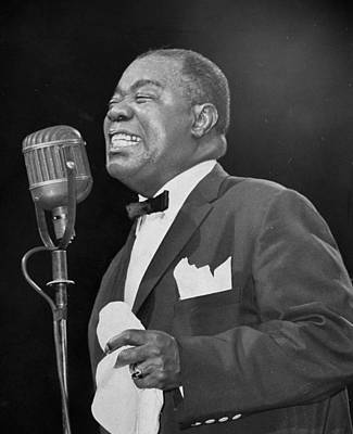 Photograph - Louis Armstrong At The Daily News Jazz by New York Daily News Archive