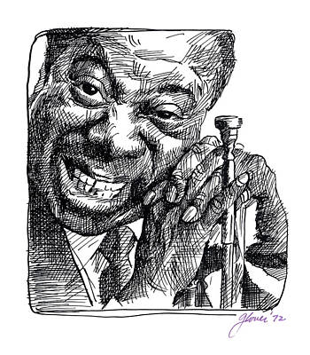 Jazz Royalty-Free and Rights-Managed Images - Louis Armstrong by David Lloyd Glover