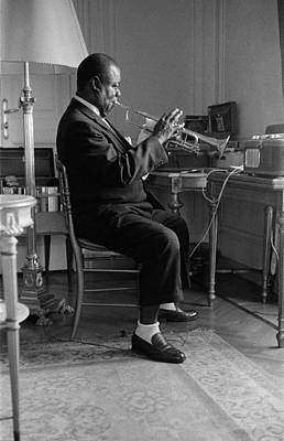 Photograph - Louis Armstrong In 1959 by Giancarlo Botti