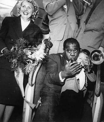 Photograph - Louis Armstrong by Keystone